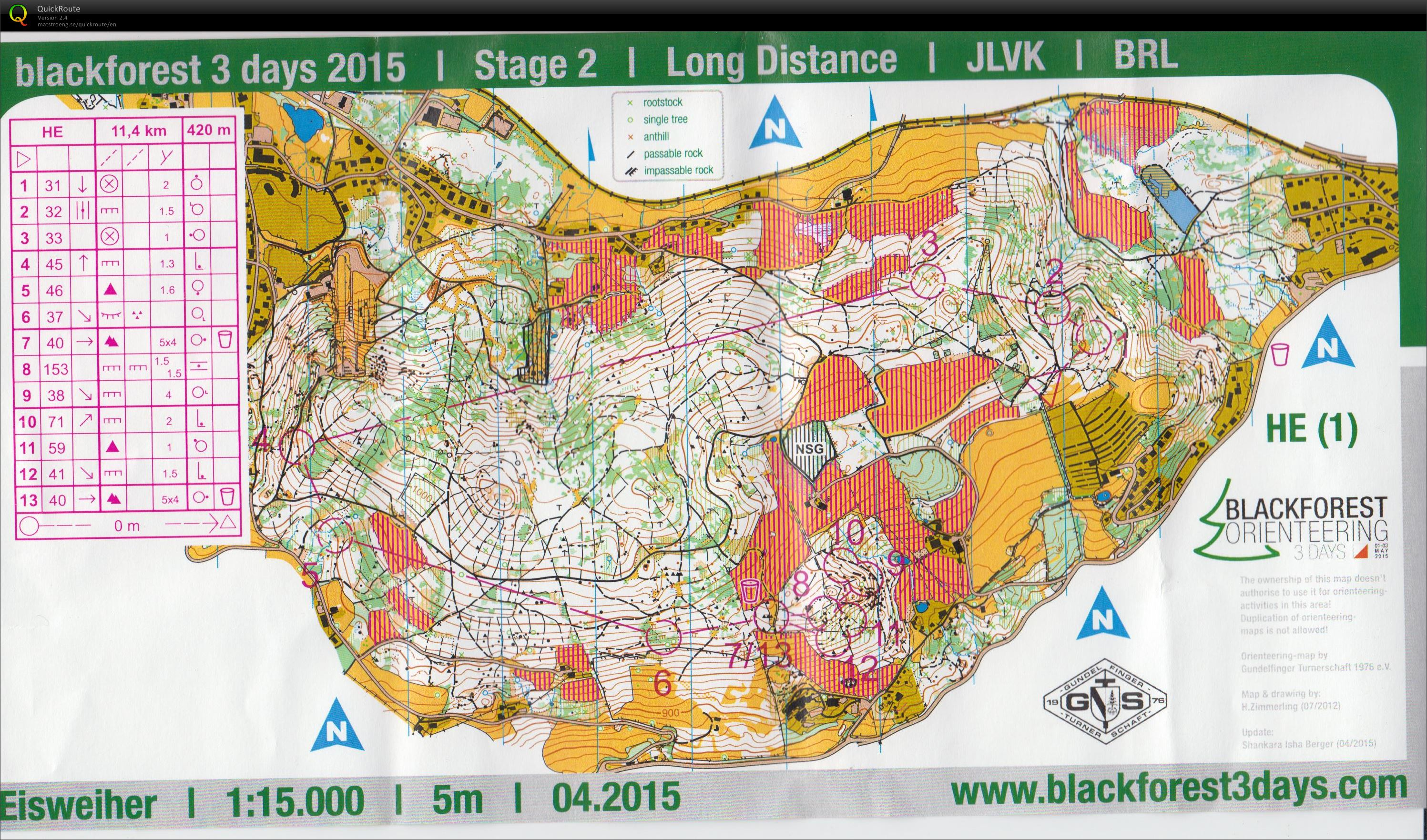 Black Forest 3 days Stage 2 (02/05/2015)